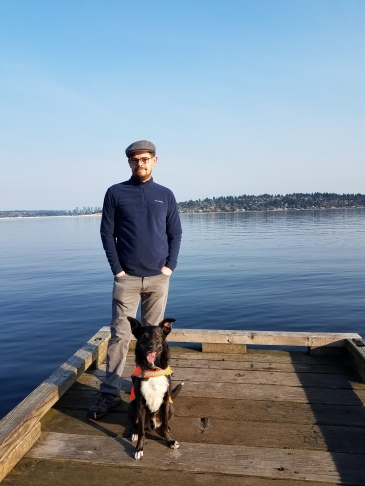 Iain, Charlie, and Lake Washington.